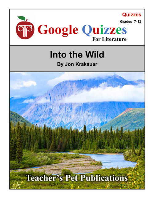 Into the Wild Google Forms Quizzes