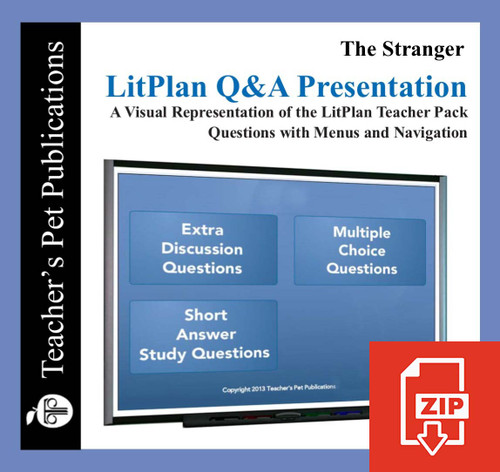 The Stranger Study Questions on Presentation Slides | Q&A Presentation