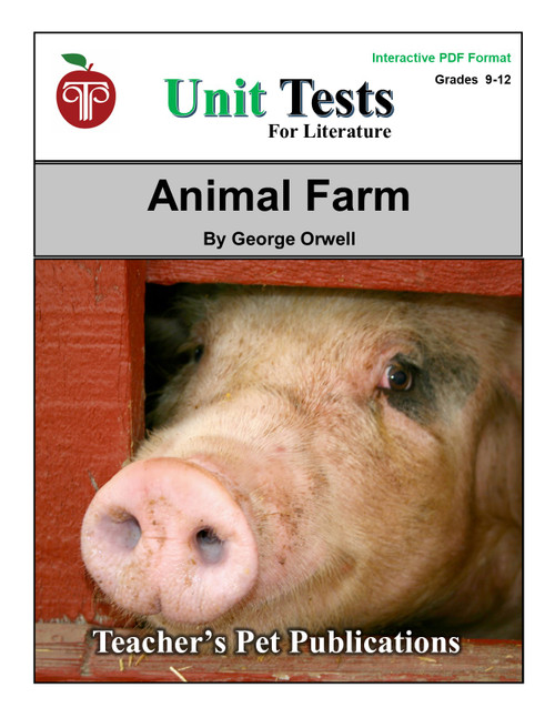 Animal Farm Interactive PDF Unit Test | Great for Google Classroom!