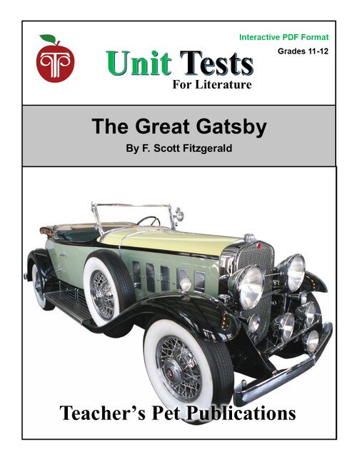 The Great Gatsby Unit Test Interactive PDF | Great for Google Classroom!