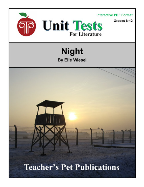 Night Interactive PDF Unit Test