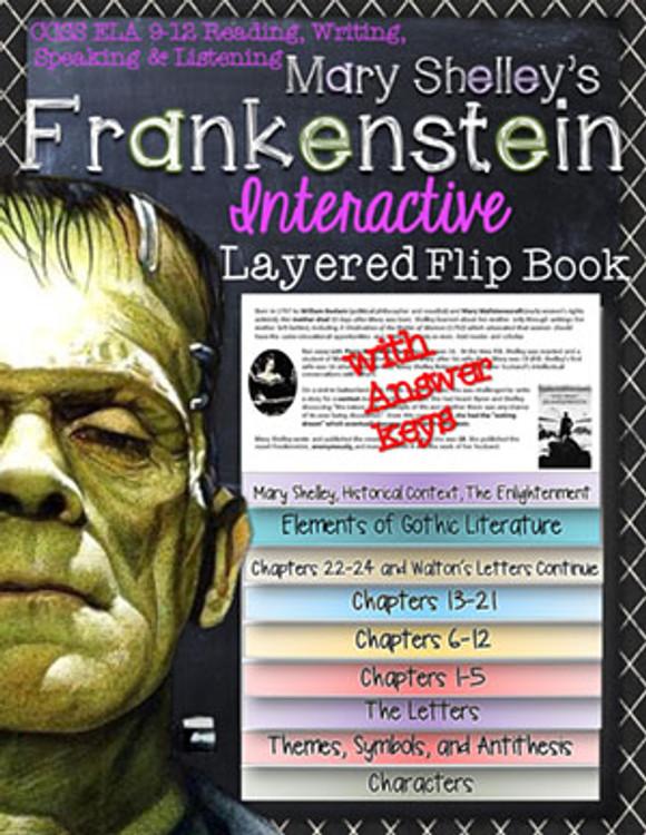 Frankenstein Novel Study Flip Book