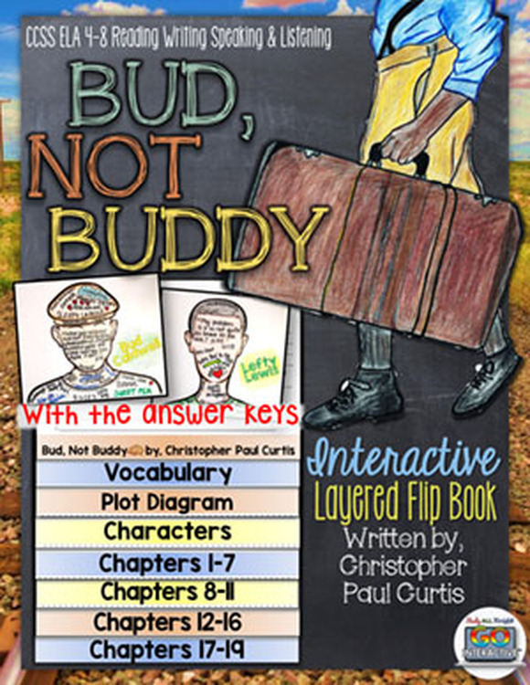 Bud Not Buddy Novel Study Flip Book