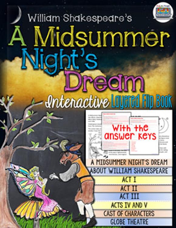 A Midsummer Night's Dream Novel Study Flip Book