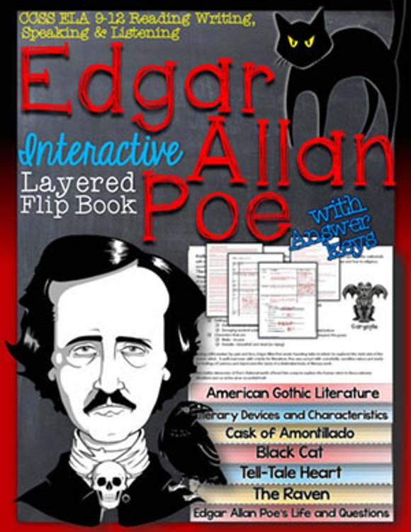 Poe Stories Novel Study Flip Book