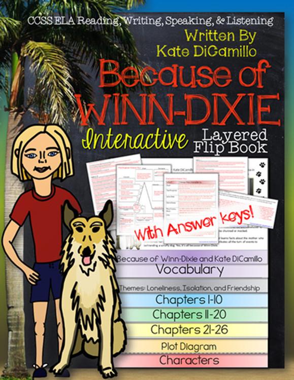 Because of Winn-Dixie Novel Study Flip Book