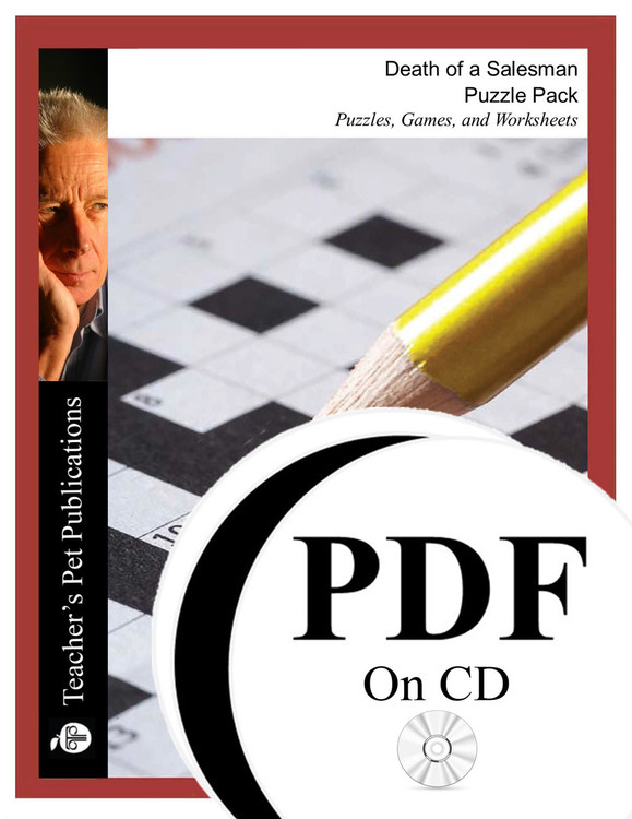 Death of a Salesman Puzzle Pack Worksheets, Activities, Games (PDF on CD)