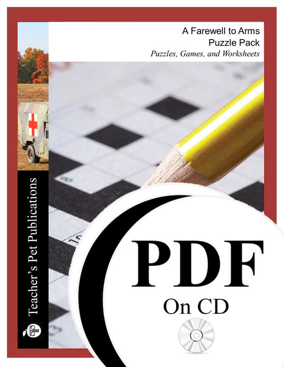 A Farewell to Arms Puzzle Pack Worksheets, Activities, Games (PDF on CD)