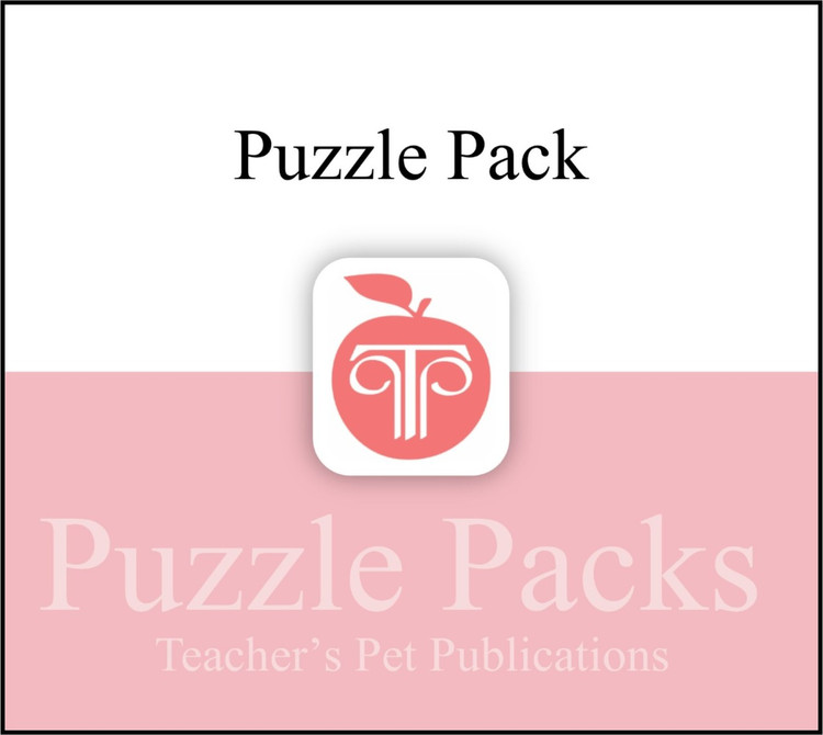 Island of the Blue Dolphins Puzzles, Worksheets, Games | Puzzle Pack (CD Wallet Image)