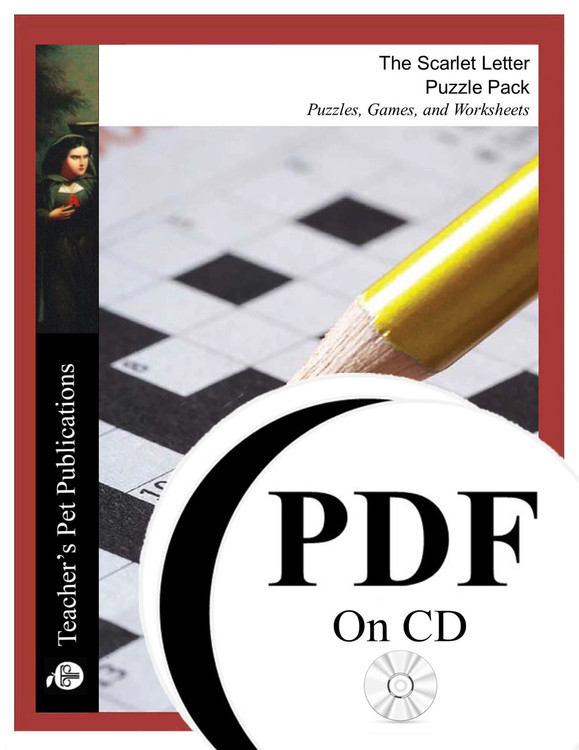 The Scarlet Letter Puzzle Pack Worksheets, Activities, Games (PDF on CD)
