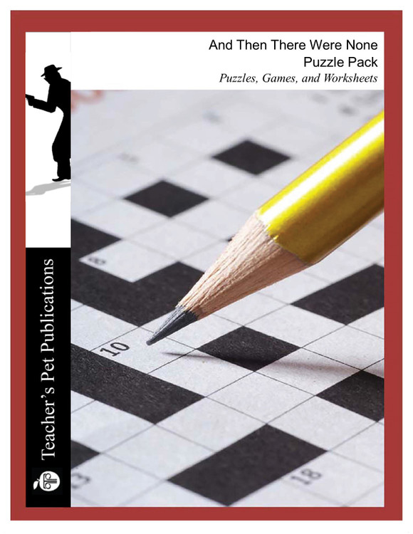 And Then There Were None Puzzles, Worksheets, Games   Puzzle Pack