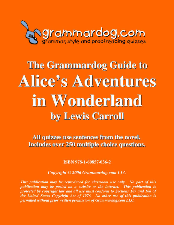 Alice's Adventures in Wonderland Grammardog Guide