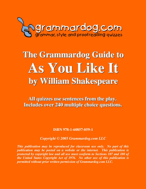 As You Like It Grammardog Guide