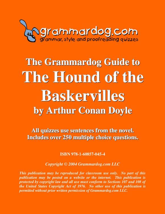 The Hound Of The Baskervilles Grammardog Guide