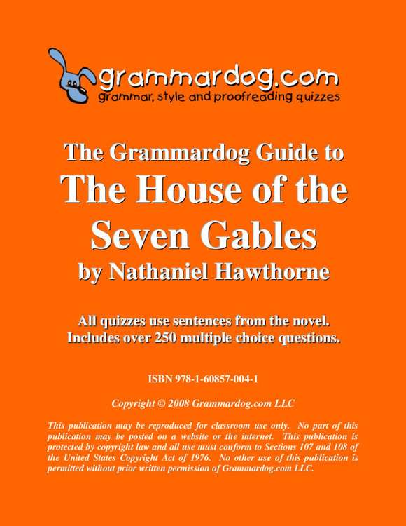 The House of the Seven Gables Grammardog Guide