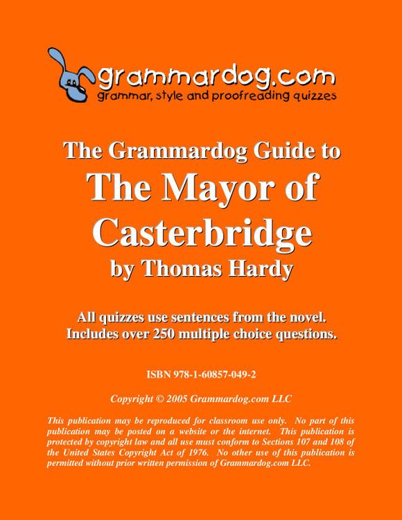 The Mayor of Casterbridge Grammardog Guide