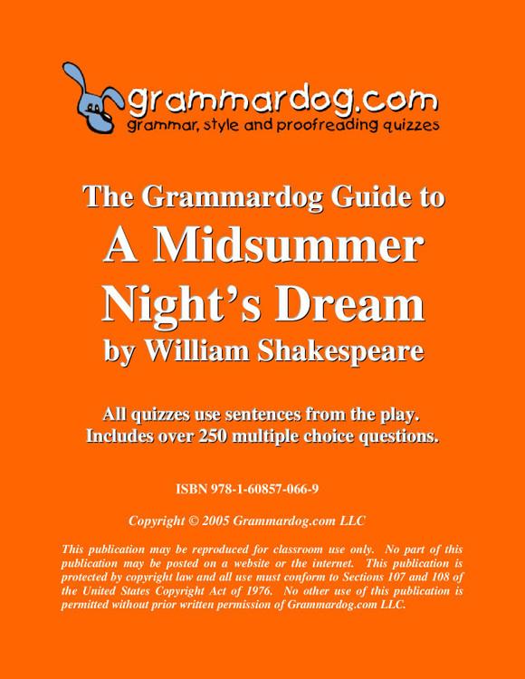 A Midsummer Night's Dream Grammardog Guide