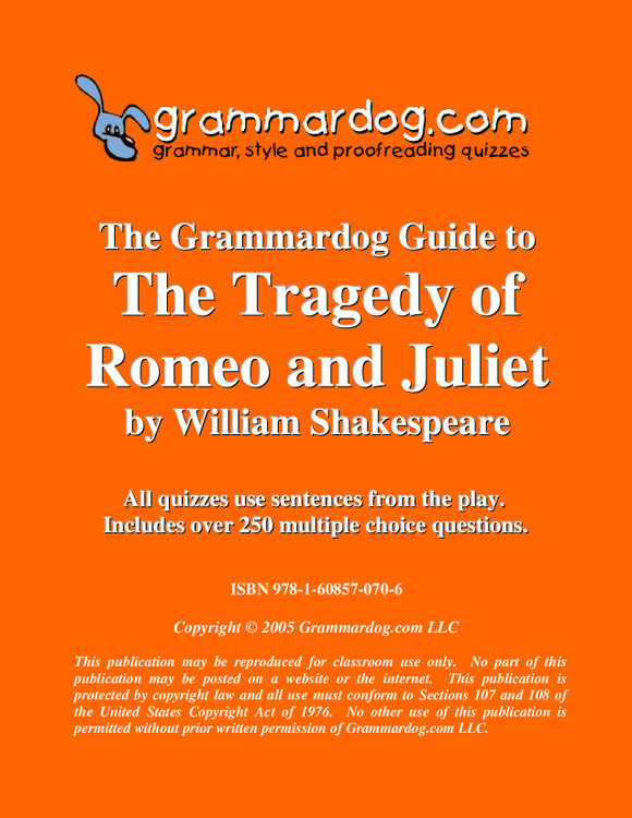 Romeo And Juliet Grammardog Guide