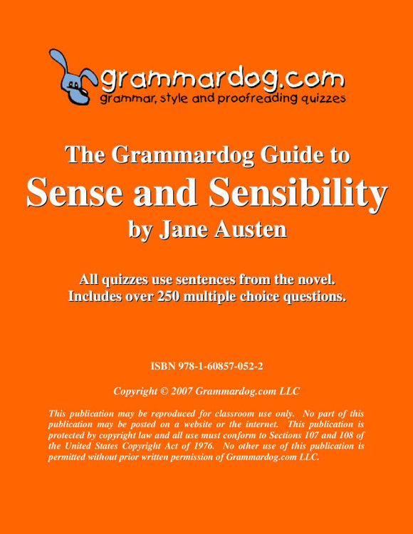 Sense And Sensibility Grammardog Guide