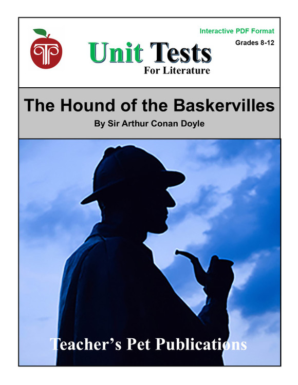 The Hound of the Baskervilles Interactive PDF Unit Test | Great for Google Classroom!