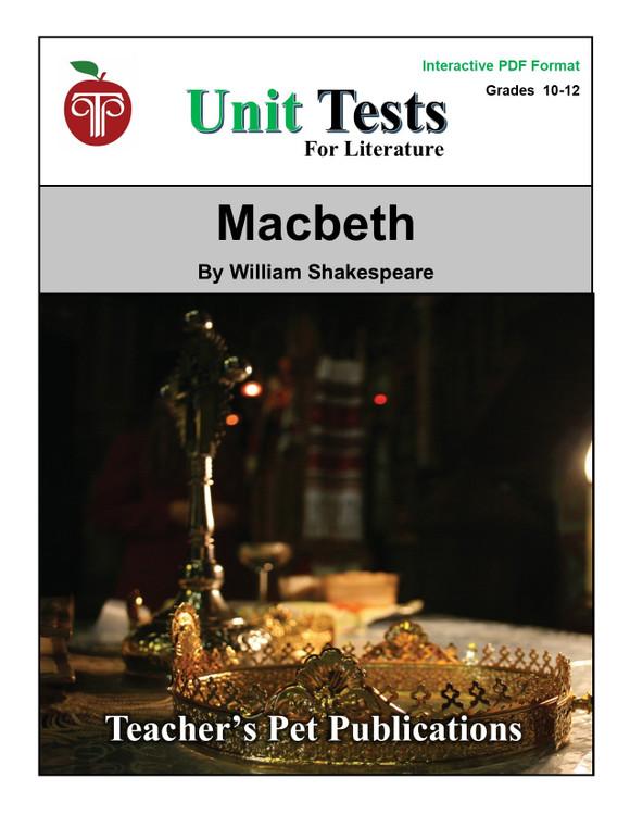 Macbeth Interactive PDF Unit Test