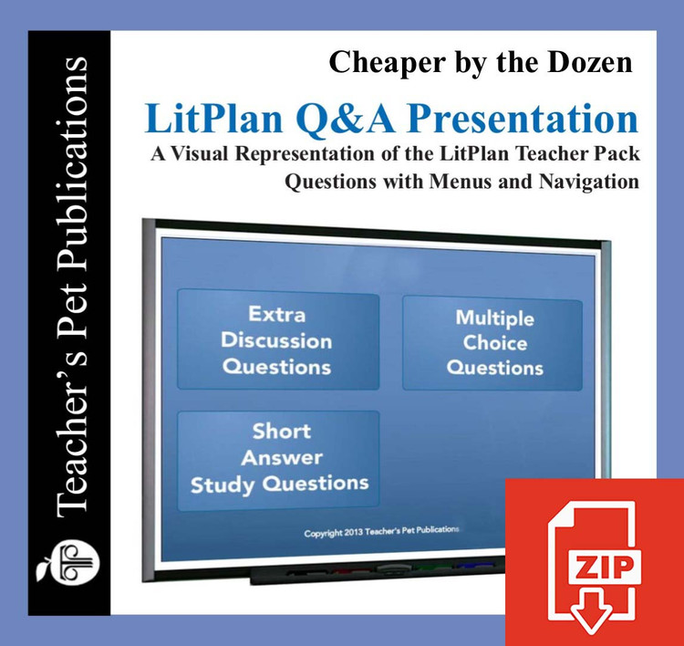 Cheaper By the Dozen Study Questions on Presentation Slides | Q&A Presentation