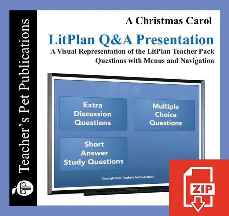A Christmas Carol Study Questions on Presentation Slides   Q&A Presentation