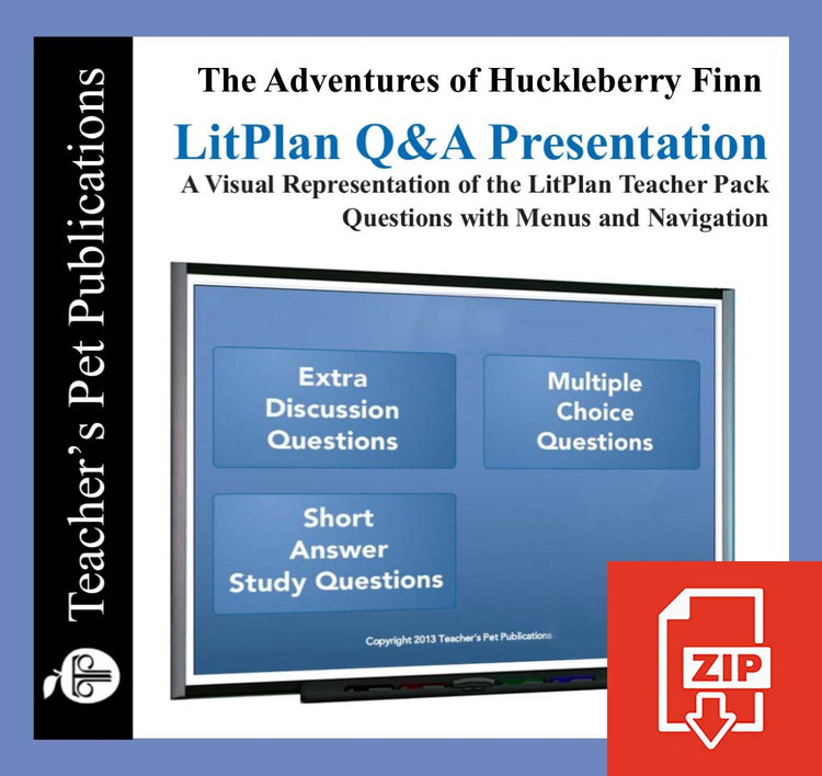 Huckleberry Finn Study Questions on Presentation Slides | Q&A Presentation