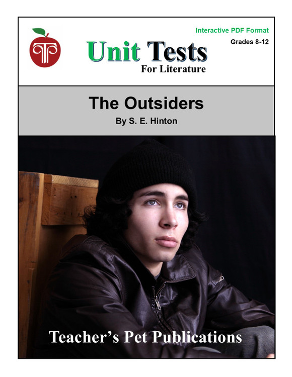 The Outsiders Interactive PDF Unit Test | Great for Google Classroom!