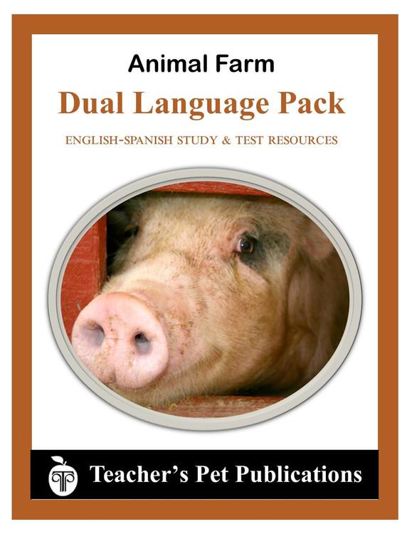 Animal Farm Dual Language Pack English-Spanish Novel Study Guide