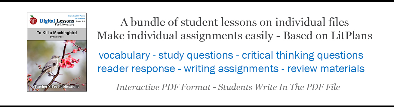 Digital Lessons For Literature Interactive PDF Novel Units