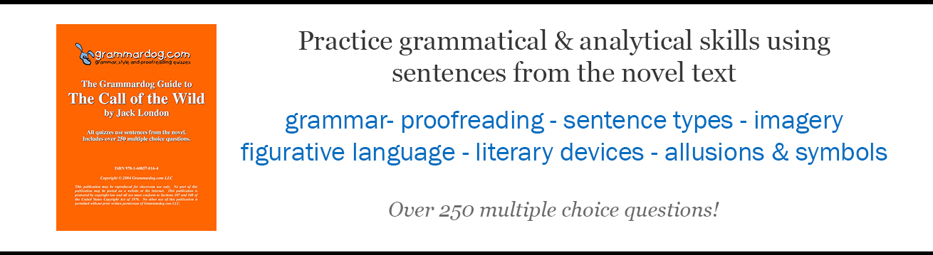 Grammardog - Study grammar & more from the novel text!