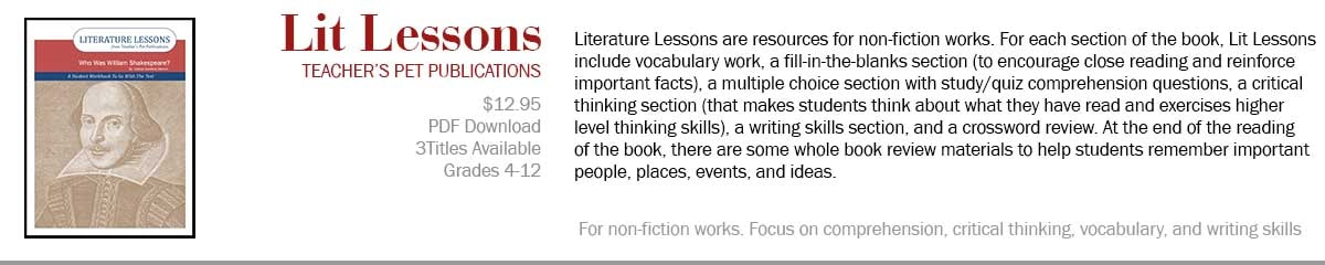 Literature Lessons--Literature Study Packs