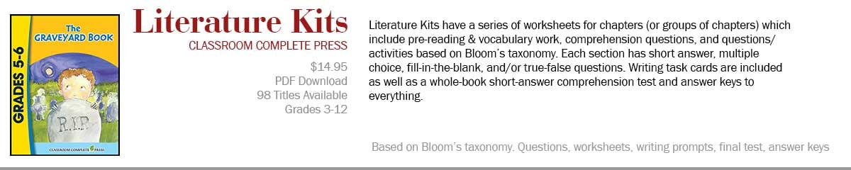 Literature Kits from Classroom Complete Press-Lesson Plans & Activities for Novels