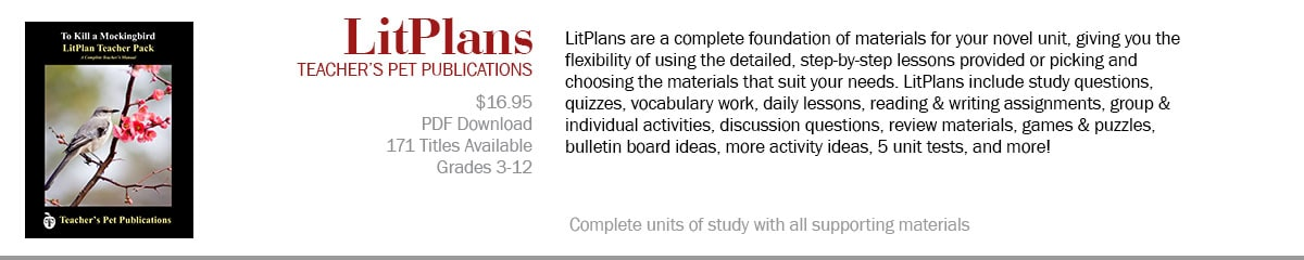 LitPlans--Novel Units from Teacher's Pet Publications