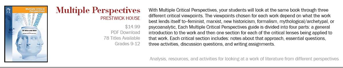 Multiple Critical Perspectives for Analyzing Novels