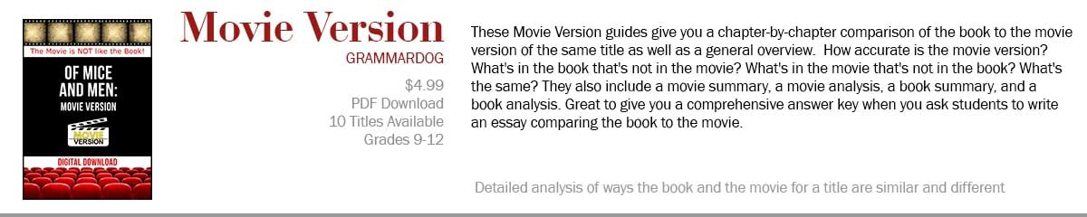 Compare movies to their corresponding novels!