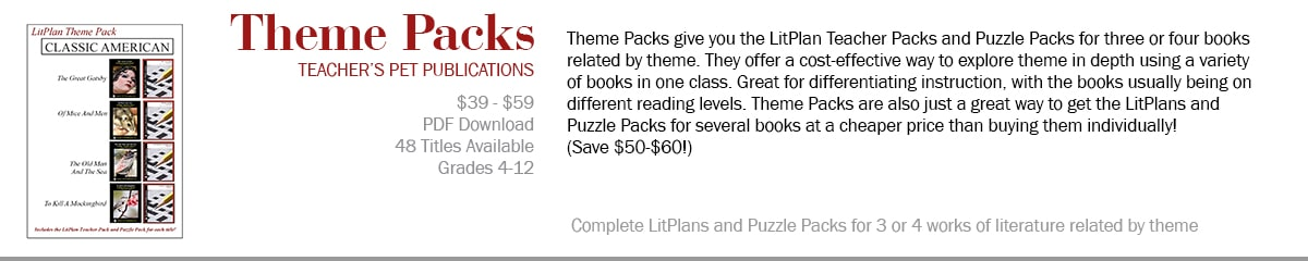 Theme Packs -- Lesson Plans For Teaching Literature by Theme