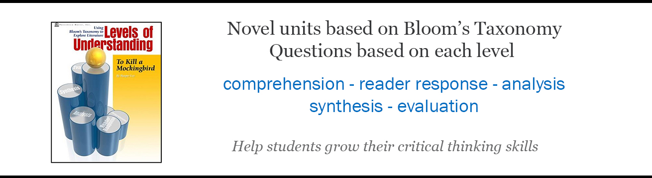 Levels of Understanding - Bloom's Taxonomy for literature