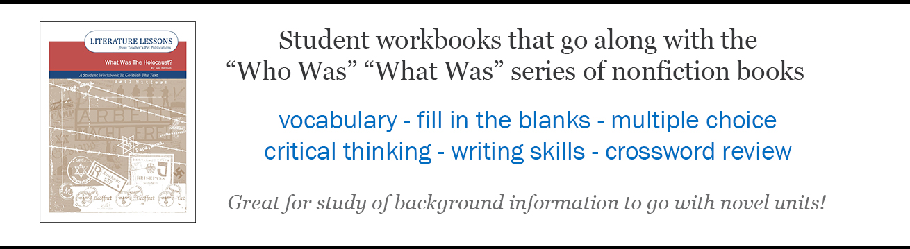Student Workbook For the Who Was What Was Series of Nonfiction Books