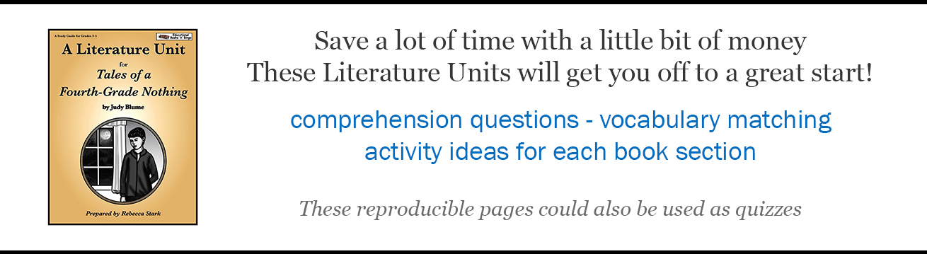 Literature Units from Educational Books and Bingo