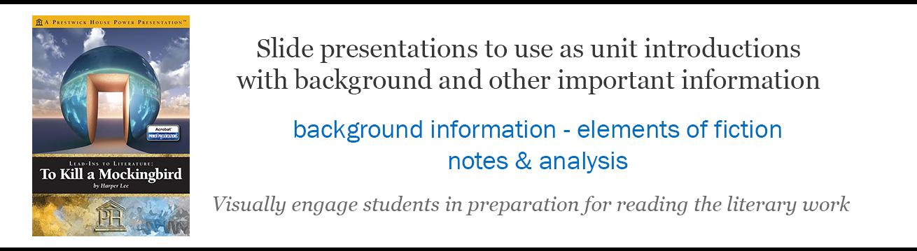 Novel Introduction Slides Presentations