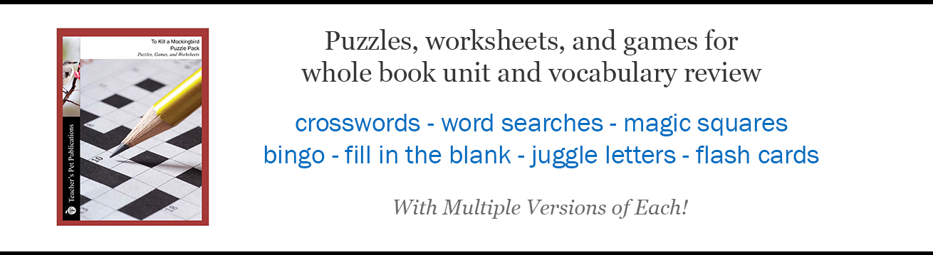 Puzzle Packs - Puzzles Worksheets Games For Novel Review