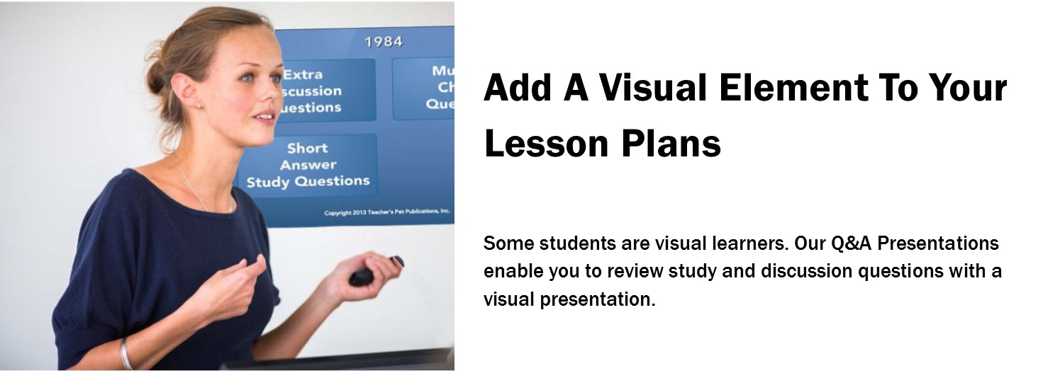 Add a visual element to your literature lesson plans with our Q&A Presentations