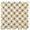 Bella Glass Tiles Flower Series FS-71 marble mosaic tile