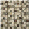 Bella Glass Tiles Tranquil Series 1 x 1 Methodical Sand