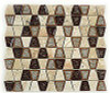 Bella Glass Tiles Tranquil Series Trapezoid Midday Aubergine