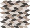 Bella Glass Tiles Colonial Series Long Hex New Chesapeake CLNL-282
