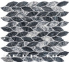 Bella Glass Tiles Colonial Series Long Hex Salem Charcoal