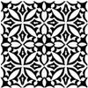 Bella Glass Tiles Retro Nueve Fleur Noir Encaustic Look